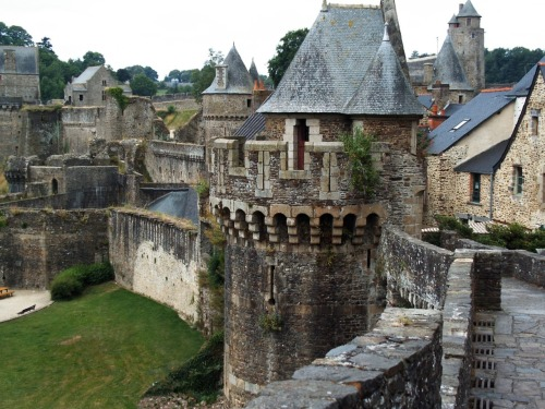 Fougères castle, Brittany, France. 12th c.