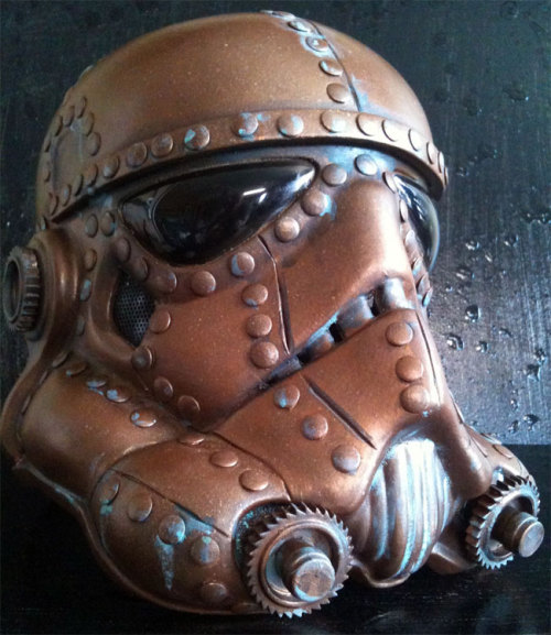 starwarseverything:  steampunk stormtrooper helmet