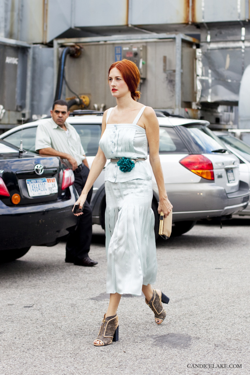 Taylor Tomasi Hill, outside Alexander Wang, New York, SS12