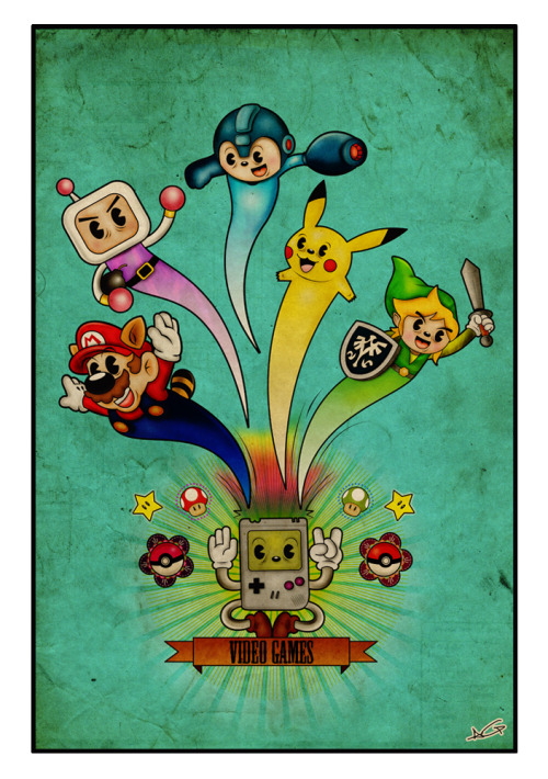 it8bit:  Video Games - by Adrian Garcia Treviño Tumblr | Flickr | Behance (Via: adriandesign)