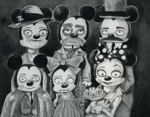 heyoscarwilde:  The Mouse Family 1903 illustration by Jeff Shelly :: via jeffshelly.blogspot.com
