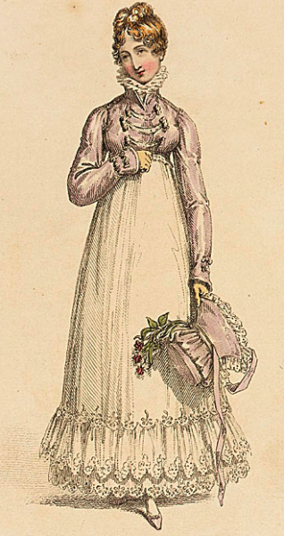 Walking dress, Ackerman, April 1817