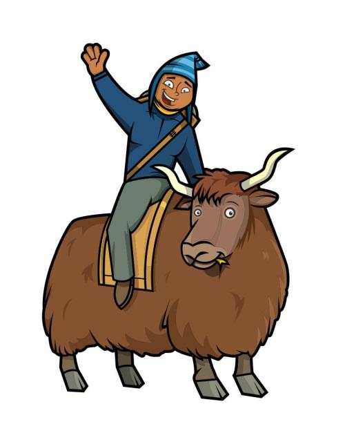 Atop his trusty yak, the Coupon Sherpa hunts for more savings…