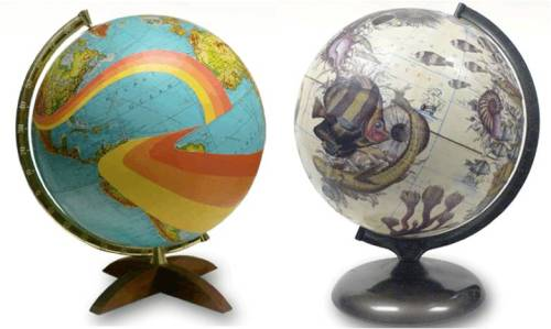 anthropologie:  Vintage globes, reimagined. Via: Artonglobes.com