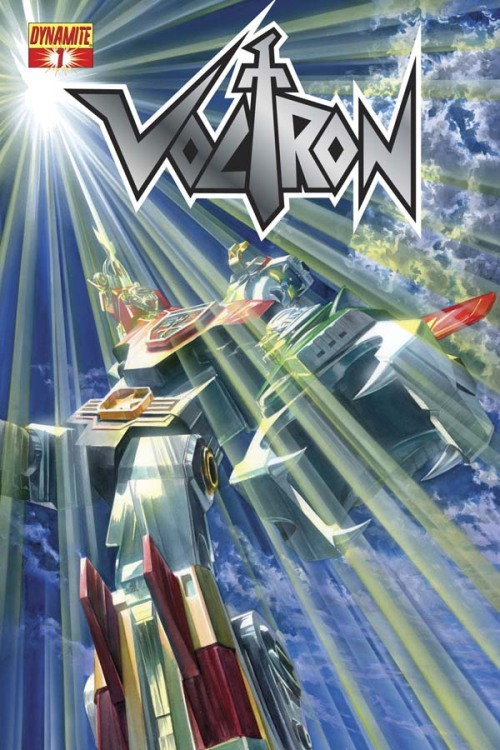 "Dynamite Shows Off New 'Voltron' Comic Series Art Between Nickelodeon's new Voltron Force animated series and Netflix streaming much of the original show, fans are feasting on some Robeast-slaying action of late. Dynamite Entertainment's been waiting to join the party for awhile, but has finally debuted four pieces of promo art from December's Voltron #1, the first issue of an ongoing series by writer Brandom Thomas and an unannounced interior artist featuring covers from artists including Alex Ross. The series will apparently play in the Voltron: Defender of the Universe animated continuity, although specific story details aren't yet available. From Dynamite's official press release:   ""Voltron is one of the most well-known cartoons of all-time,"" says Dynamite President Nick Barrucci. ""Classic Media and World Events Productions are working with a wide-range of licensing partners to ensure Voltron's success. With the upcoming cartoon and a feature film in the works, now is the perfect time to launch a Voltron comic book for a new era, which will feature amazing Alex Ross covers! Our acquisition of this incredible brand is another step in Dynamite's exciting growth and builds on the ongoing success of our line.""""I grew up loving the big robots from Japan,"" says legendary artist Alex Ross. ""And Voltron is one of the coolest-looking of them!""  See more Voltron images at ComicsAlliance."