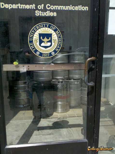 Communications Department Filled with Kegs Sometimes you need a little little courage to communicate better.