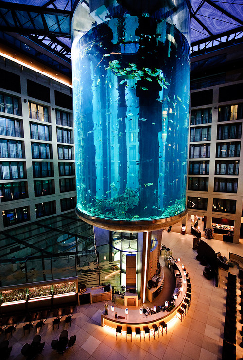 033171071510:  Aquarium in the Berlin Radisson SAS Hotel by Stefan Baudy