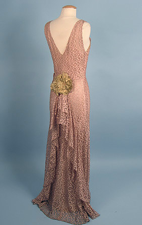 Evening dress, ca 1935 ;;