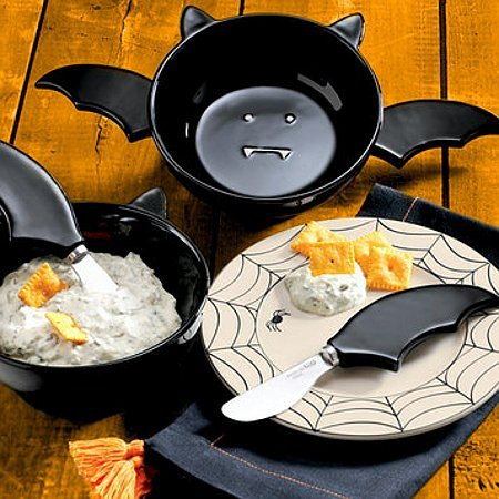 baturday:  Black Bat Dip Bowl and Spreaders