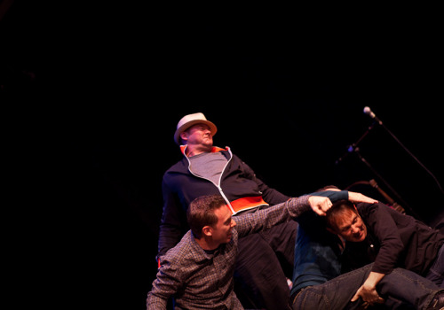 liezlwashere:  SF Sketchfest | Never Not Funny | 01.29.11 Impromptu brawl on stage.