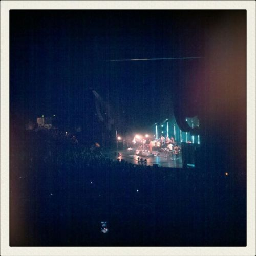 Picture I took of Bon Iver at the Gibson Amphitheatre two nights ago. It was something special.