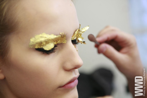 womensweardaily:  Backstage at Fendi Spring 2012