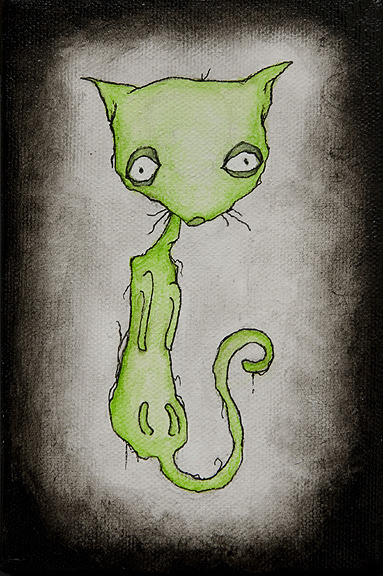"rand0mflora:  hyaenagallery:  ""I Eat My Own Vomit"" by Spinestealer #art #cats  That title. Oh Spinestealer."