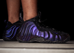 "Nike Air Foamposite One ""Eggplant Custom"" on Flickr.first sole swap project….so glad the soles are still on hahahahaha"