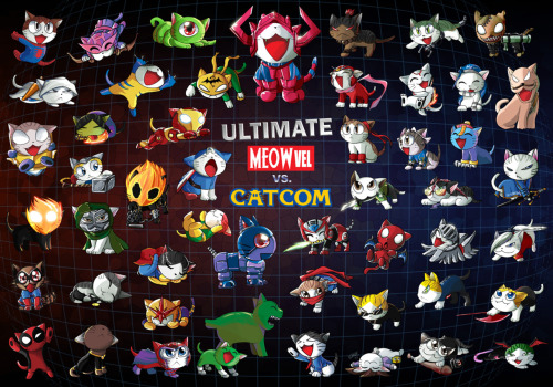 Ultimate Meowvel vs. Catcom by Irene Lee!