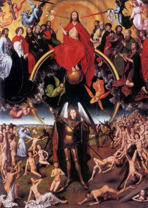 The Last Judgment (central panel of the tryptich) by Hans Memling, 1467-1471, oil on wood, National Musaum, Gdansk