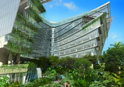 Gardens at LucasFilm's proposed Singapore Headquarters via Inhabitat