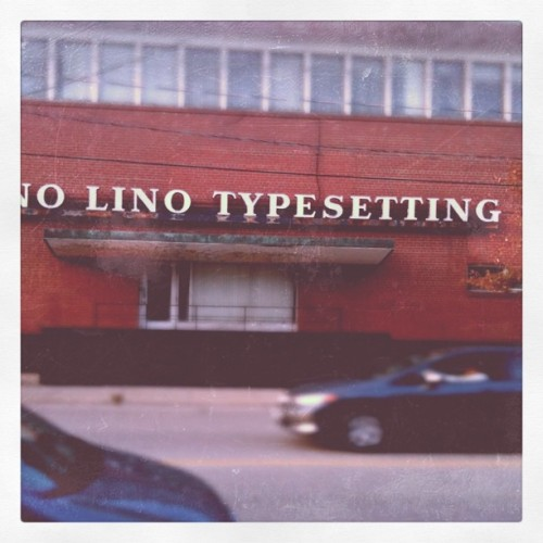 Typeset (Taken with instagram)