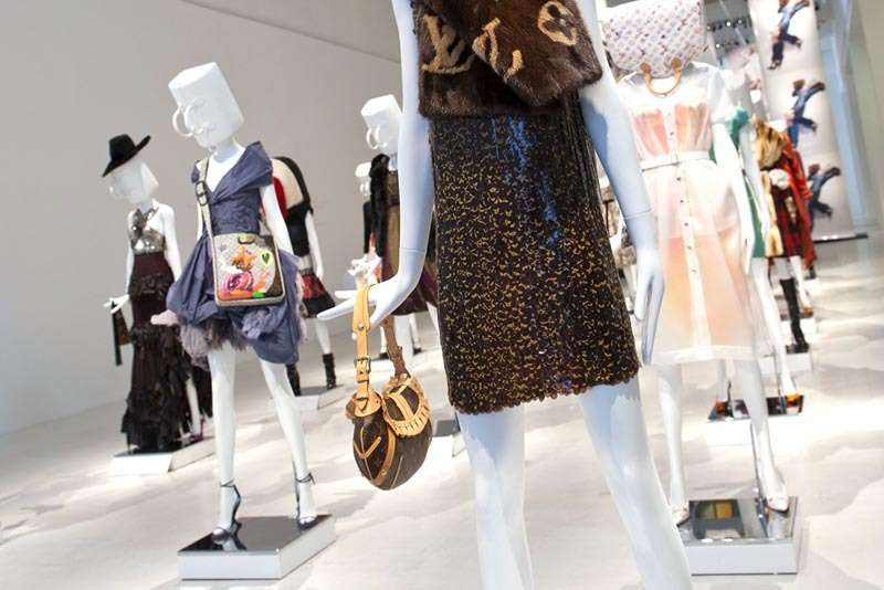Louis Vuitton's Milan mannequins have Speedy bags on the brain's - literally.
