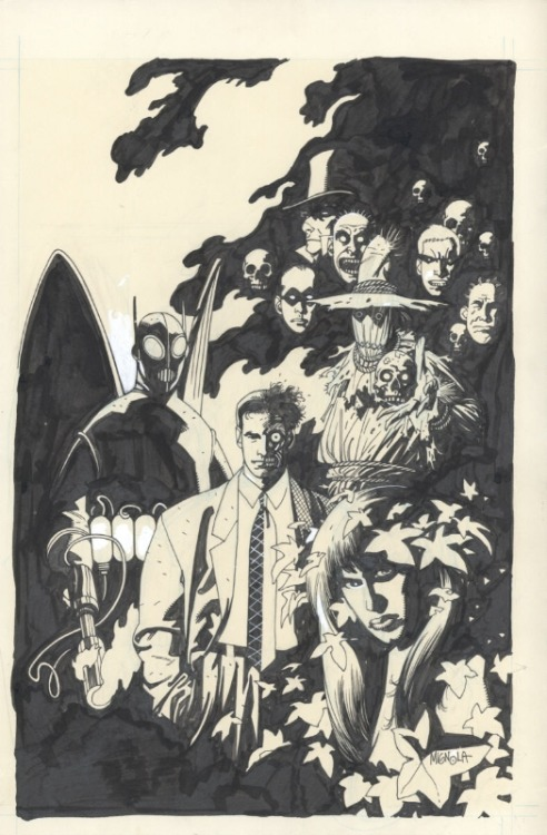 about-faces:   The Arkham Inmates by Mike Mignola, cover for Showcase '94, #3. The story itself is drawn by Tim Sale, and features the Arkham inmates versus the inmates of Blackgate Prison… in baseball. I seriously need to post about that story and scans over at my fanblog sometime. Keep an eye out for it there in the near future.