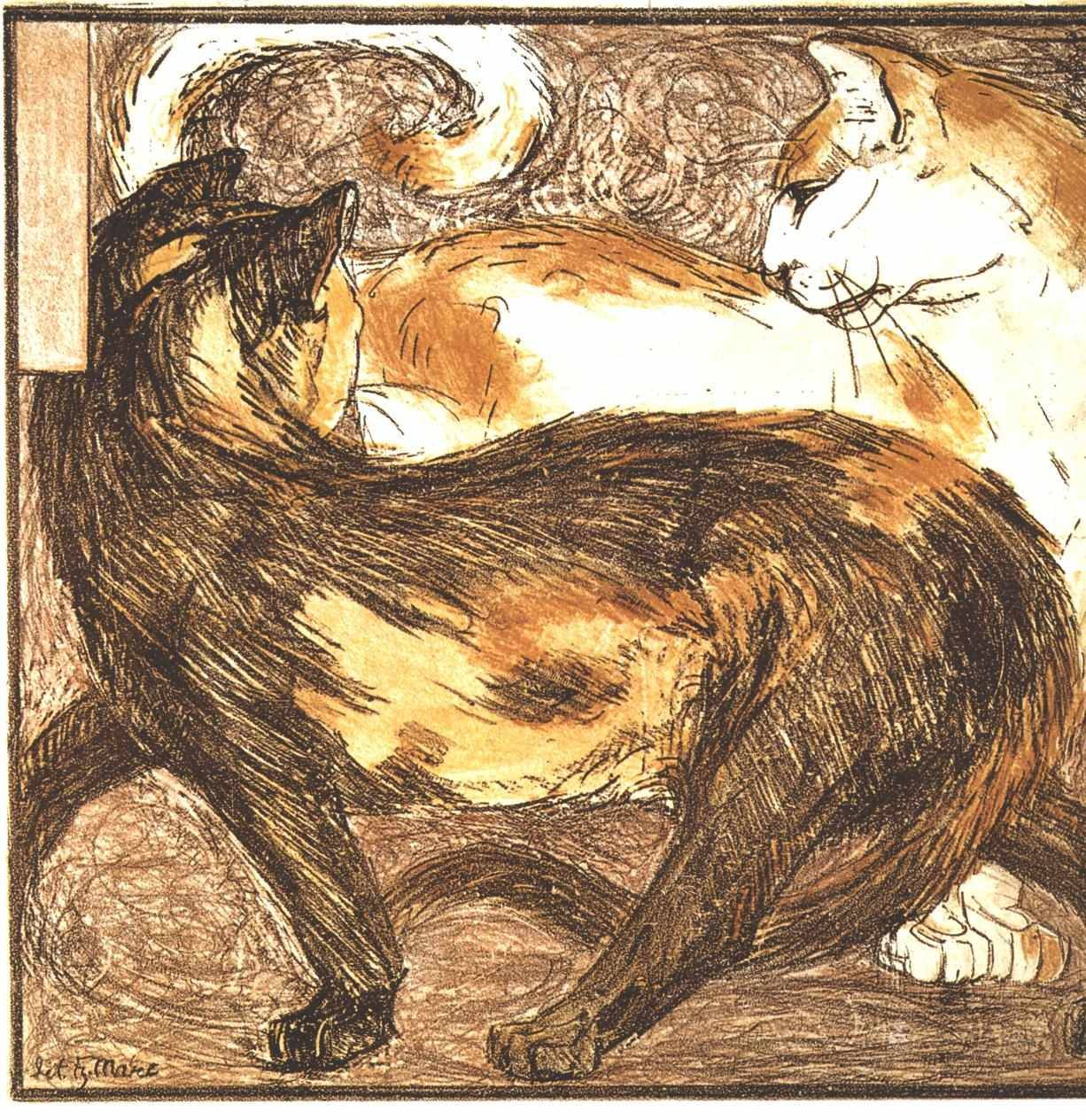 holymucilage:  Franz Marc, Two Cats.