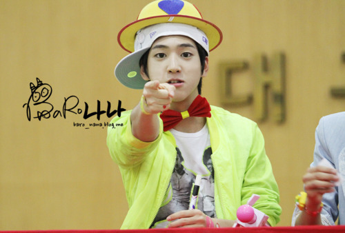 his hat!! xD