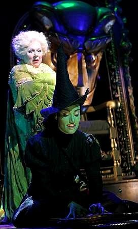 Idina Menzel as Elphaba and Miriam Margoyles as Morrible London 2006
