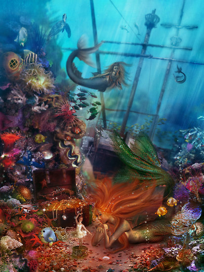 "seafairies:  (via ""The Mermaid's Treasure"" by Foxfires 