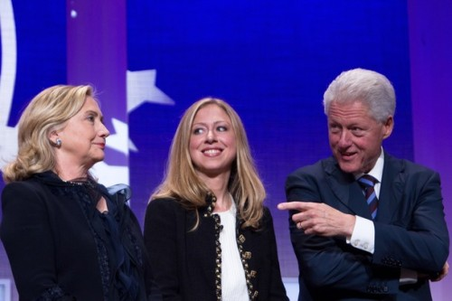 The Clintons!!!   - Today at Clinton Global Initiative in New York City.