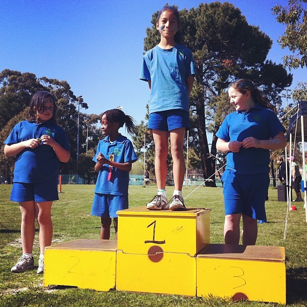 1st event, 100m sprint, 1st place  #Kardinya Primary #School #igersperth #igerswestoz #iphoneography #sports  (Taken with instagram)