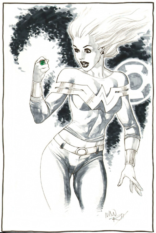 jesic:   — by Ivan Reis  What if Cassie were bestowed a Green Lantern ring?