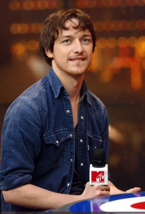 Announcement: My mom has a new celebrity crush: James McAvoy. She was hiding her interest pretty well, until a benign disagreement over what to watch on TV after dinner almost devolved into fisticuffs. I desperately wanted to see the season premiere of Community and she was adamant about watching Becoming Jane. Mom - Have you ever heard of the author Jane Austen? Me - (eyeroll) Yes mother, I'm familiar with Jane Austen (Blogger's note: FYI, I'm a f*cking English major, damn it.) Mom - Well I want to watch this movie about her. I heard Anne Hathaway is in it and I only caught a few minutes of it once, but it looks very interesting.  Me - It also stars Professor X. Mom - Who? Me - James McAvoy? The guy who played Charles Xavier in X-Men First Class? Mom - (blank stare) Me - Remember? He's the guy who was telepathic? Mom - (blank stare)  Me - His friend was the Holocaust survivor who could bend metal with his mind? Mom - (Squints eyes. Shrugs shoulders.)  Me - Jesus Christ! (changes channel to Becoming Jane) (A wild James McAvoy appeared!) Mom - Oh! Oh! It's him! It's him! I can never remember his name! (pauses and stares lovingly at the TV) I don't know why but…I like him very much. *** He's handsome, Scottish, and charming. What's not to like? Plus, did you check out that lip-biting action at the top? Growl!