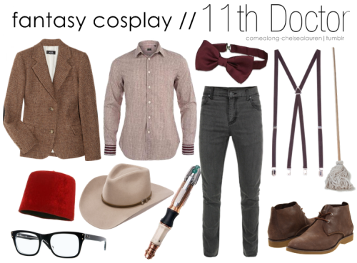 11th Doctor | Fantasy menswear Cosplay - Click here! (hellomustachelovers - I included the mop!)