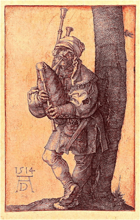 phonographic-funhouse:  The Bagpiper by Albrecht Dürer 1514