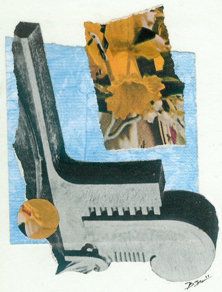 Clef - Collage on Card Stock 2011  http://www.facebook.com/hoop.and.stick.art http://society6.com/hoopandstick