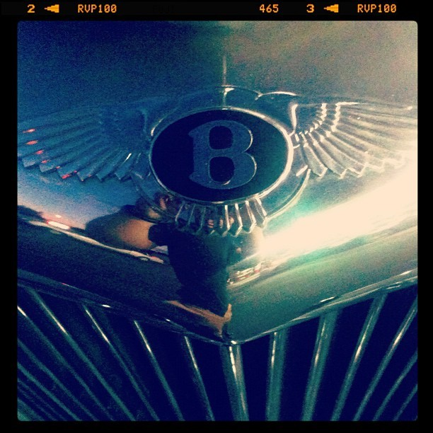 Bentley #chromeography #retro #vintage #logo  (Taken with instagram)