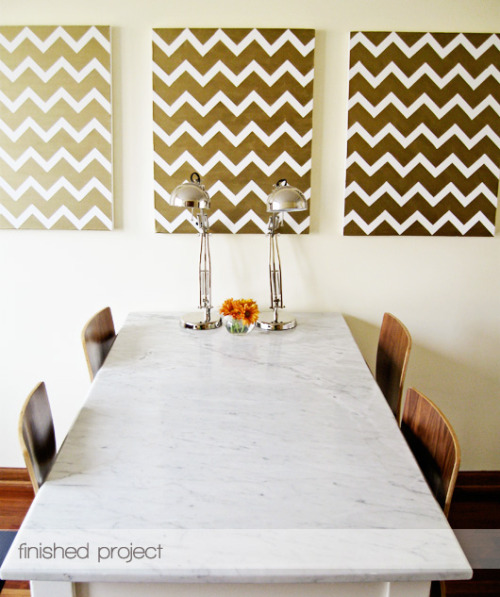 doityourselfcrafts:  (via decor8 » Blog Archive » DIY Chevron Art)
