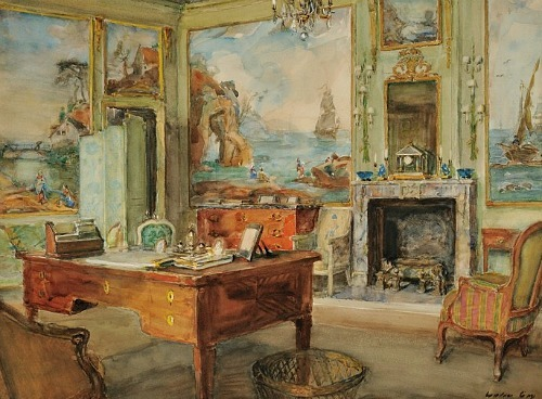 Walter Gay View of a French Interior Late 19th - early 20th century