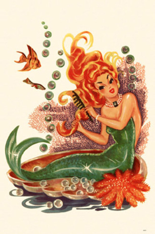 Mermaid illustration, unknown artist