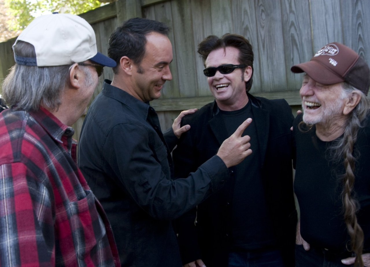 Neil Young, Dave Matthews, John Mellencamp and Willie Nelson