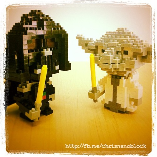 nanoblock Yoda Vs Darth Vader … http://fb.me/chrisnanoblock for more …