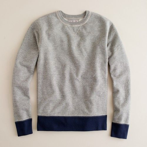 evolutionofagentleman:  Wallace and Barnes for J. Crew heather gray sweatshirt..A heather gray sweatshirt is a necessity for f/w..get the best quality one that you can afford and then enjoy it for years to come..