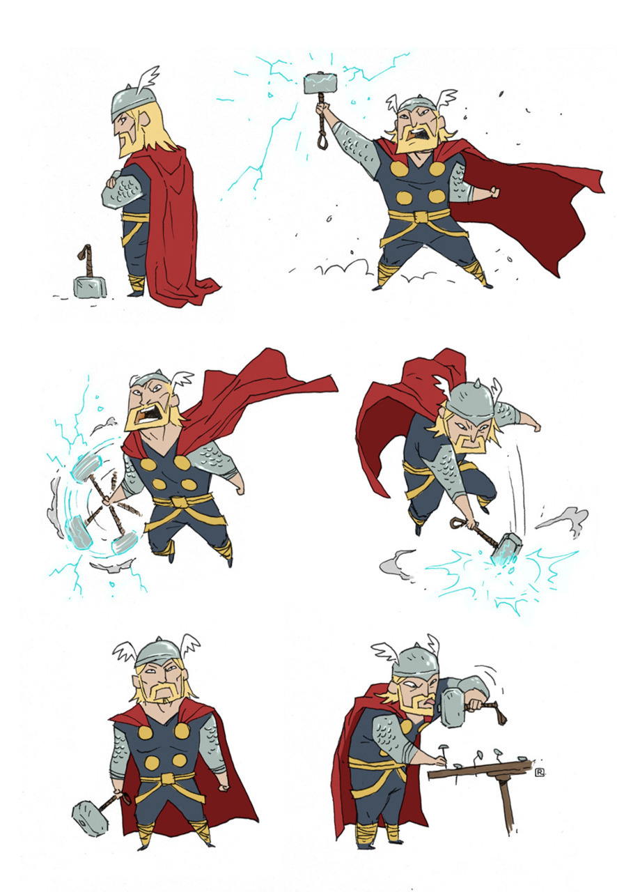 "herochan:    ""Little"" Thor - by Darren Rawlings Website 