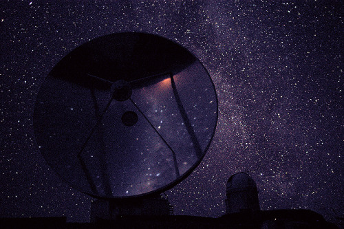 "cwnl:  ""It's full of Stars!"" Location: La Silla, Mountain top in Chile On clear, moonless nights, the stars still come out with a vengance above the high-altitude La Silla astronomical observatory. Credit: Nico Housen, European Southern Observatory"