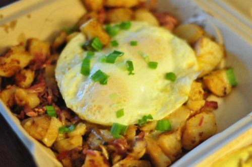 [day107]. Corned beef hash from Beach House Cafe. Hearty and coma inducing.