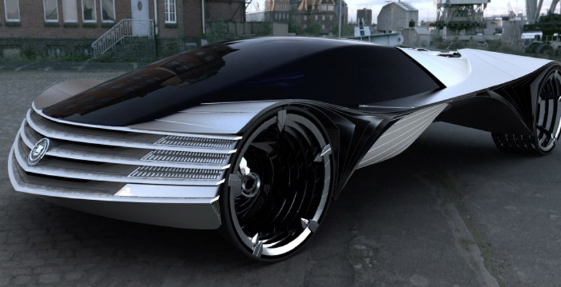 Futuristic batmobile.