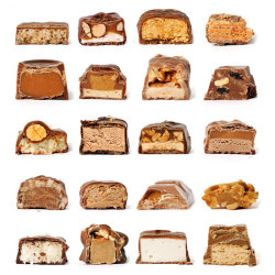 kapkek:  Chocolate Bars Cross Section by Rachel Green