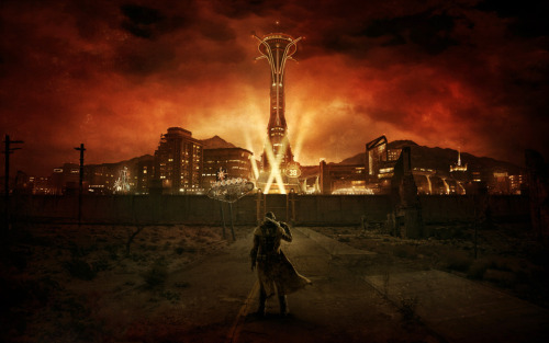 saveroomminibar:  Fallout: New Vegas. Ranger at Vegas' Gates.