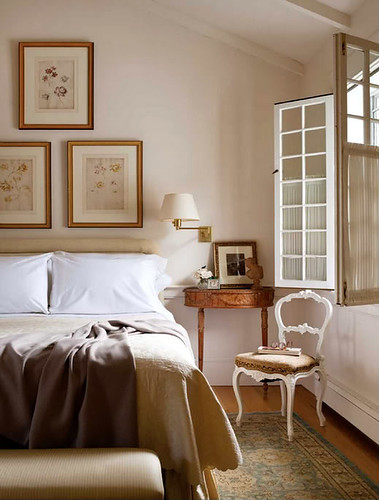 very chic neutral bedroom