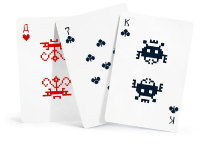 I want these in my life.  it8bit:  Space Invaders Pixel Deck  - by Alexei Lyapunov and Lena Erlikh Available for purchase at Art Levedev Studio for $11 USD. via: TheAwesomer